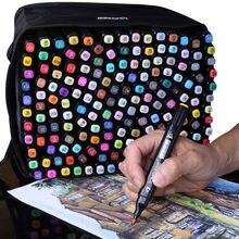 Canetas artísticas para desenho, marcadores à base de álcool, 30, 40, 60, 80, 168 cores para designer