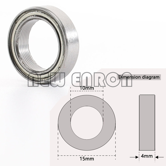 NEW ENRON 8P Oil Bearing 10*15*4mm Sealed Miniature Ball Bearing B030 FOR RC Car 1/10 HPI WR8 Flux Bullet ST MT Baja RS4 Savage