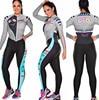 2019 pro equipe triathlon terno feminino camisa de ciclismo skinsuit macacão maillot ciclismo ropa ciclismo hombre manga longa conjunto gel02 15