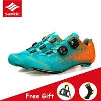 Santic level 10 tênis de bicicleta  sapatos ultraleve de fibra de carbono  para ciclismo  corrida  bicicleta de estrada