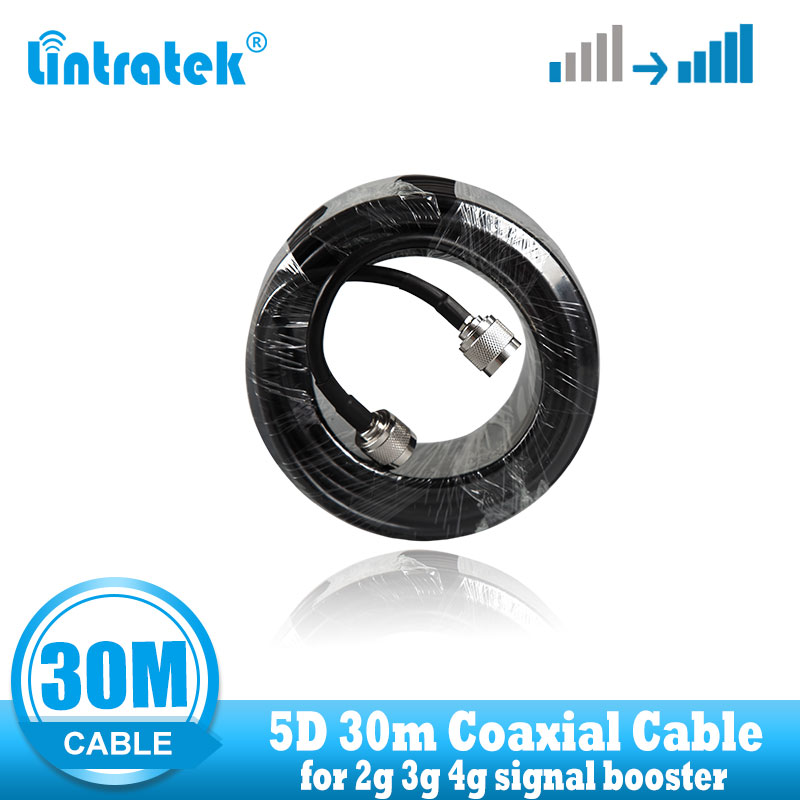 Top Quality  Long  30M  Coaxial Cable N Male To N Male Gsm 3G 4G Signal Booster Repeater Use 5D 30m Signal  Amplifier  Cable
