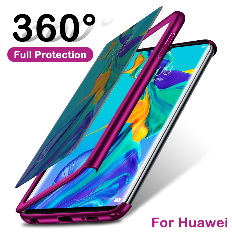 360 Full Protective Case For Huawei P30 P40 Pro Plus P20 P10 Shockproof Cover For Mate 30 Lite Y6 Y7 2019 Honor 10 8X 9X 20 7A 8(China)