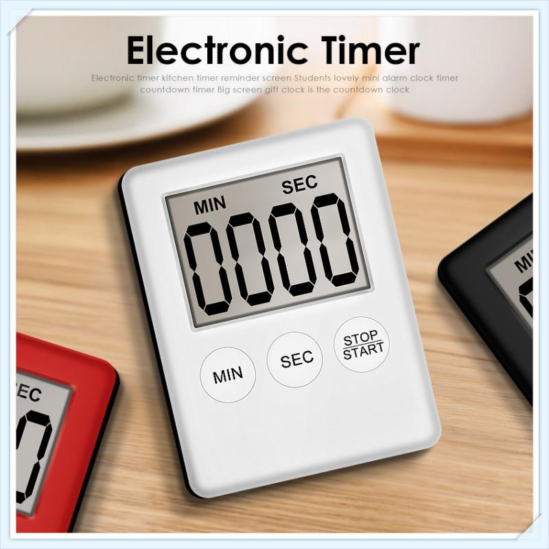 Ultra-thin Magnetic LCD Digital Screen Kitchen Timers Cooking Time Count Down Up Clock Loud Alarm Lazy Cooking Work Rest Clocks