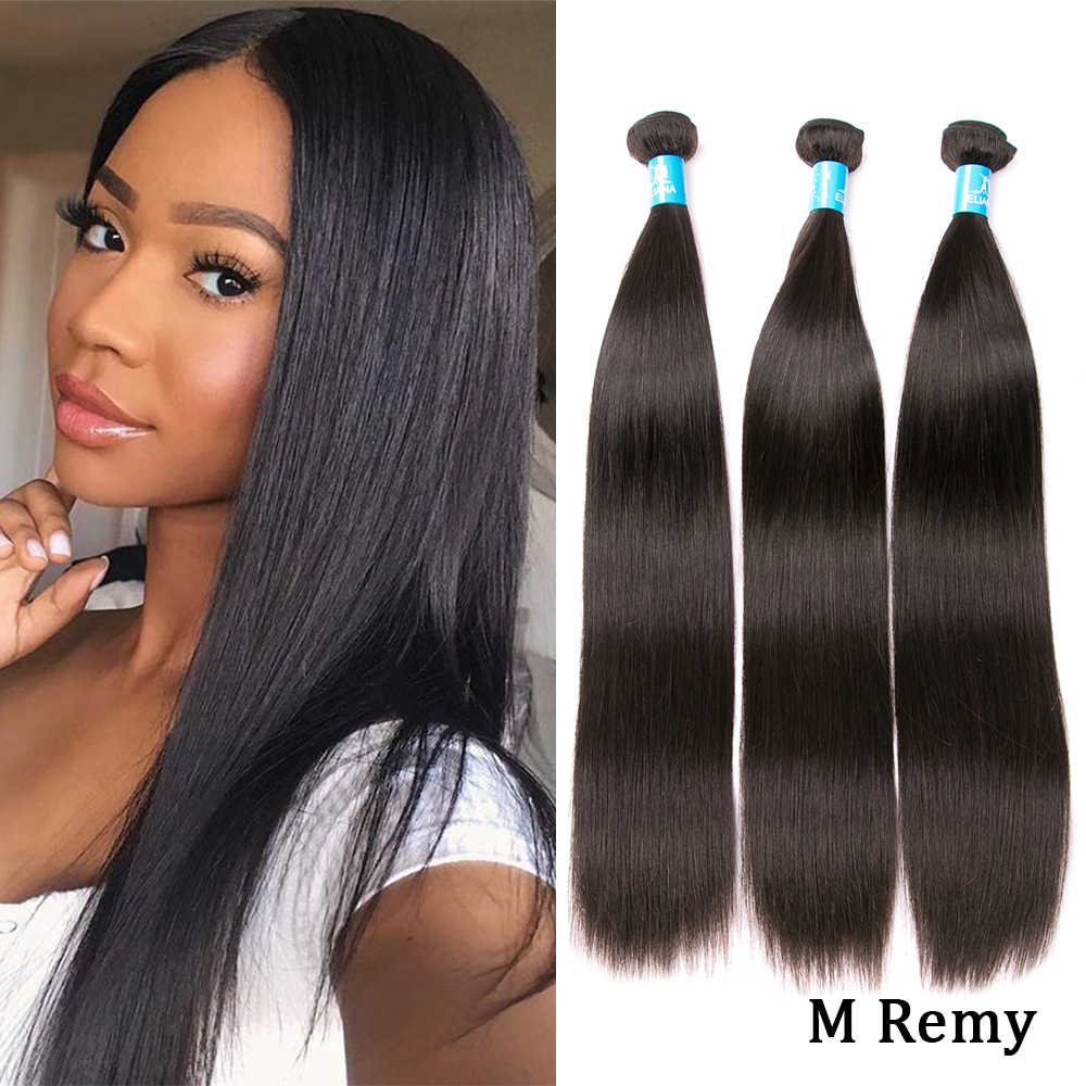 Amanda Straight Brazilian Hair Weave Bundles Middle Ratio Remy 100% Human Hair 3/4 Bundles Deals Hair Extensions 8-28 Inches