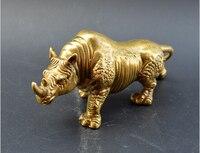 Decoração do natal + Seiko Cobre Puro Rinoceronte Escultura Ornamentos De Bronze Para Casa Acessórios de Decoração