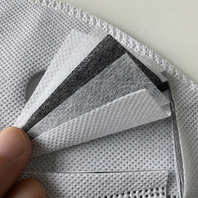 5 Layers Non Woven Half Face Mask Filter for Cycling Bike Mask Anti-pollution Dust Pm 2.5 Air Filter Activated Carbon Filters 4