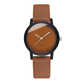 Minimalist Watches Women 2020 Fashion Brown Female Quartz Gifts Clock Casual Ladies Vintage Leather Wristwatches Zegarki Damskie ulzzang fashion brand women bracelet watches retro brown vintage leather watch female quartz clock casual ladies wristwatches
