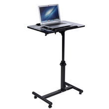 Dropshipping Notebook Computer Stand Removable Laptop Desk Multifunctional Notebook Stands With Wheels Fan Bed Sofa Books Snack