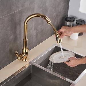 Image 4 - Golden Trek Keukenkraan Pull Down Spray Keuken Mengkraan Enkel Handvat Mengkraan Swivel 360 Graden Keuken Mixer tap