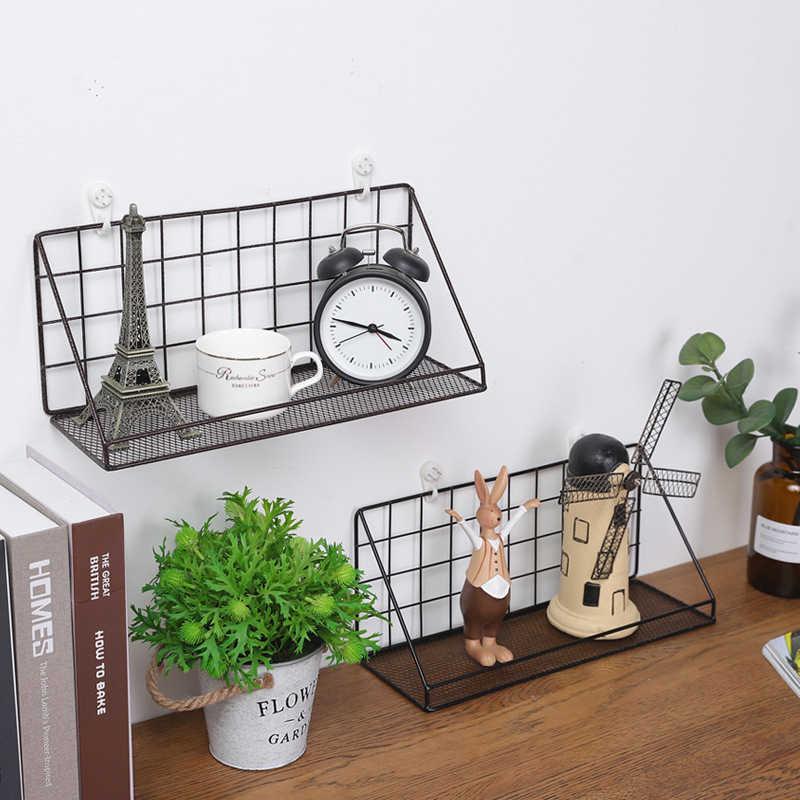 Bad Küche Regale Regal Organizer Eisen Dekorative Wand Regal Bad Halter Rack-Home Dekoration Organizer Lagerung Regal
