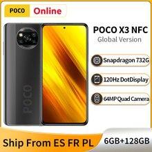 Глобальная версия POCO X3 NFC 6 ГБ 128 мобильный телефон Snapdragon 732 Octa Core 6,67
