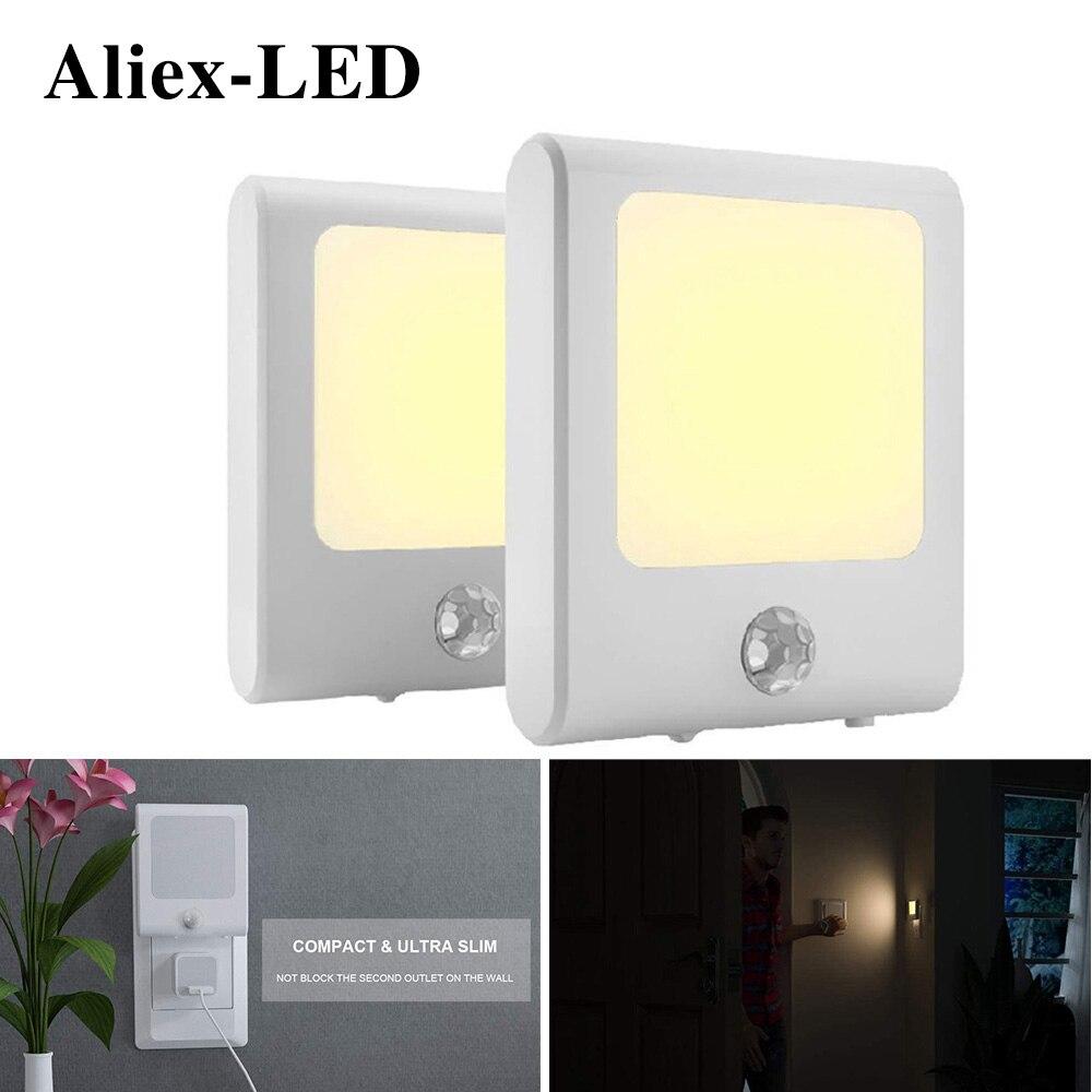 Motion Sensor Lamp Night light bedroom decor Plug in led for Hallway Stair Corridor Kitchen Living Room Garage Basement Utility