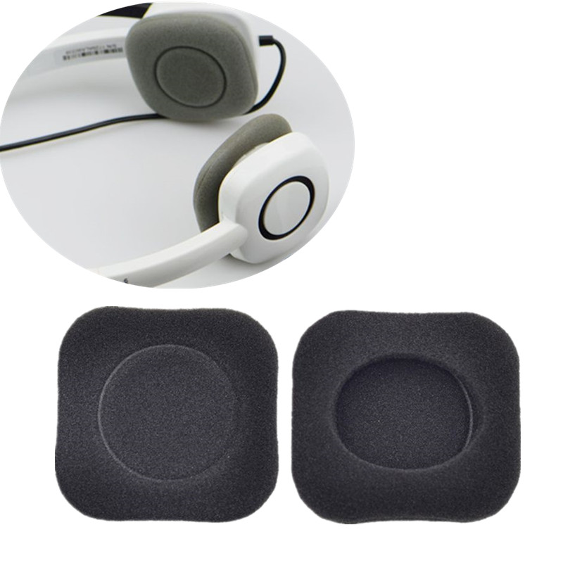 OOTDTY 2PCS Black Replacement Soft Foam Earpads Ear Cover Cushions For Logitech H150 H130 H250 H151 Wireless Headphones Headset