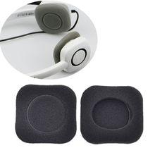 OOTDTY – coussinets d'oreille en mousse souple de remplacement, 2 pièces, noir, pour casque sans fil Logitech H150 H130 H250 H151