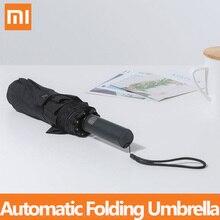 شاومي Mijia التلقائي للطي مظلة و الألومنيوم المظلة يندبروف رجل امرأة مقاوم للماء UV للشتاء الصيف مظلة Mi