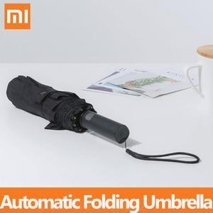 Image 1 - Xiaomi mijia自動折りたたみ傘とアルミ日傘防風男性女性防水uv冬の夏傘mi