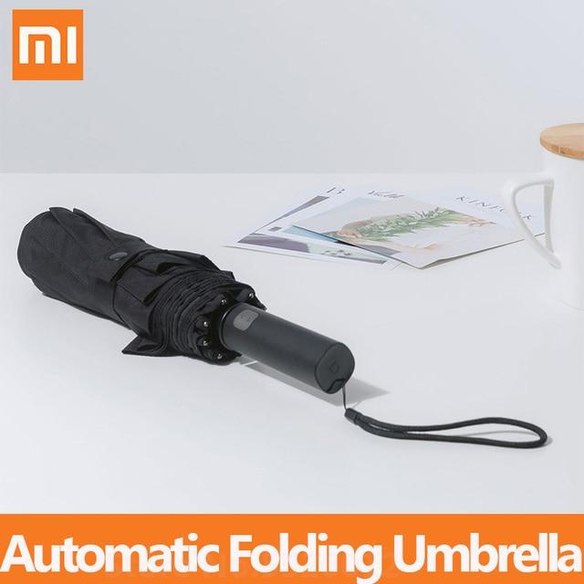 Xiaomi mijia自動折りたたみ傘とアルミ日傘防風男性女性防水uv冬の夏傘mi