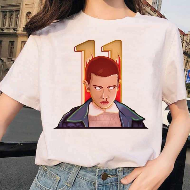 Hal Yang Aneh 3 Wanita Eleven Terbalik Teman Wanita Femme Tee Kemeja T Shirt Lucu Tshirt Dicetak T-shirt Grunge Harajuku