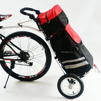 Compact Folding Cargo Bike Trailer with 2 Wheels, Portable Bicycle Trailer, 12inch Air Wheel Shopping Trolley Luggage Cart