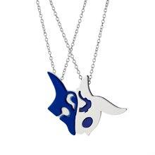 League Of Legend Necklace White And Blue Zinc Alloy Metal Chain Pendant Trendy Antique For Men And Women Fans Charm Jewelry