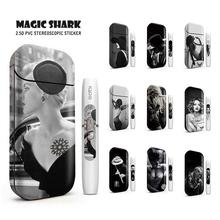 Magic Shark Sexy Lady Black White Punk Man PVC for IQOS Case Cover Stickers For IQOS IQOS 2.4 Plus Skin E Cigarette 1975-1984 new magic shark genuine leather business case for iqos e cigarette shell protective case cover bag for iqos black brown