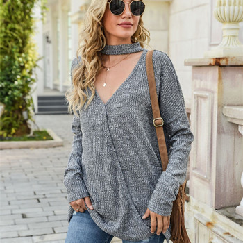 Sexy Knitted V Neck Sweater Women Patchwork Loose Sweater Casual Women Pullover Sweater Female Long Sleeve Winter Knitwear Top spring summer loose women pullover sweater hollow out sexy lace knitted plaid top long sleeve thin female pullover and sweater