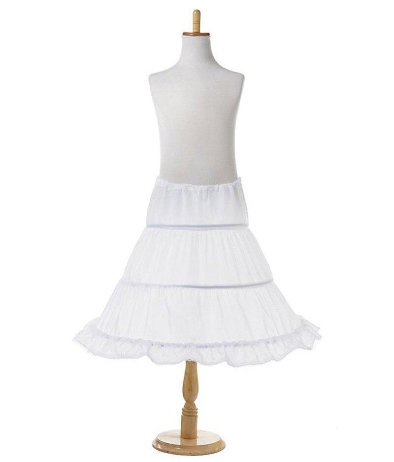 Tutu Skirts Girl Wedding Petticoat Bridal 3 Hoops Crinoline Prom Underskirt Fancy Skirt  Ball Gown Elastic Waist 3-14 Years 2