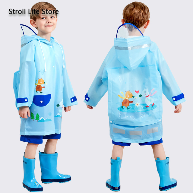 Yellow Boy Raincoat Kids Rain Poncho Cute Cartoon Plastic Suit Rain Coat Pants Set Windbreaker Waterproof Coat Impermeable Gift 3