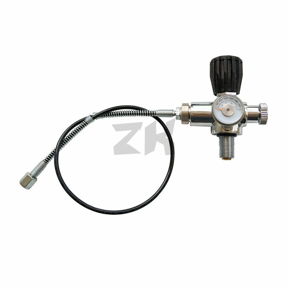Jubilee PCP Air Gun Filling Station Refill Adapter Charging Valve 300BAR/4500PSI With MicroBore Hose M18x1.5