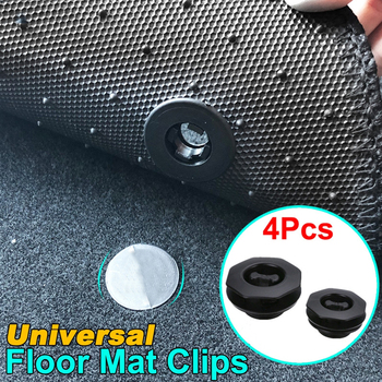 4 Pcs Car Fastener Floor Mat Buckle Antiskid Pad Fastener Car Fastener Clips Skid Resistant Carpet Fixed Clamp Car Accessories image