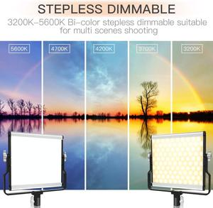 Image 3 - Travor Dimmable Bi color 2set LED Video Light Kit with U Bracket 3200K 5600K CRI96 and Bag for Studio Photography Video Shooting