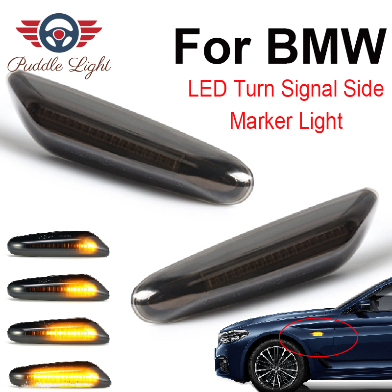 2x 12V Amber LED Side Marker Indicator Light Turn Signal for BMW E60 E61 E81 E90
