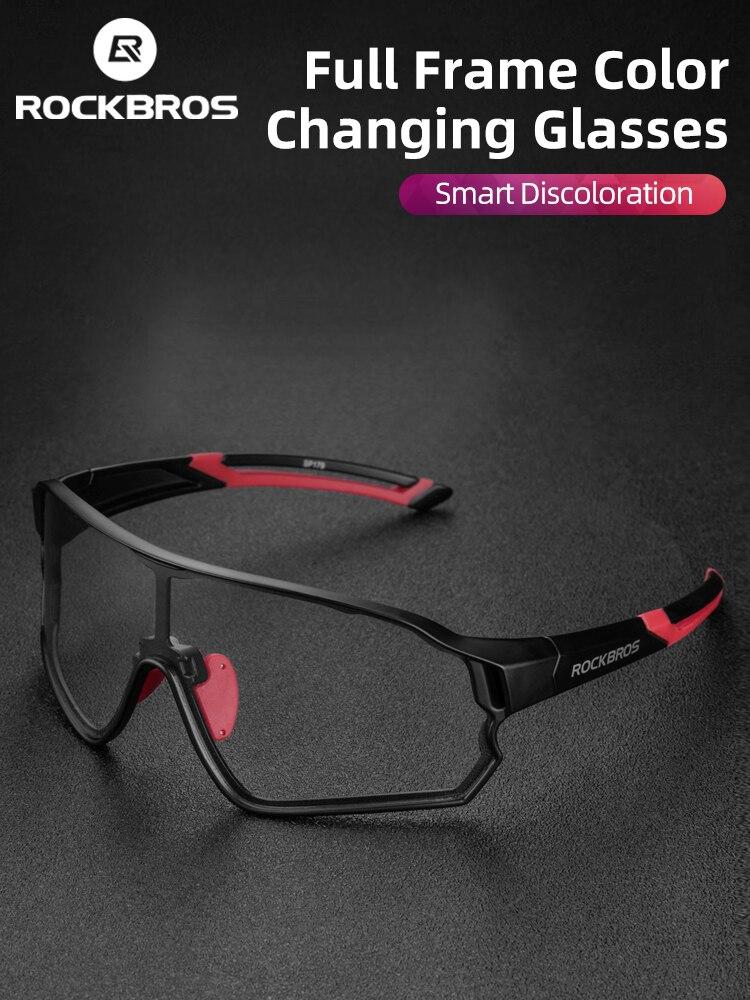 Bike Glasses Bicycle UV400 Hiking Rockbros Photochromic Anti-Glare Women for Lightweight