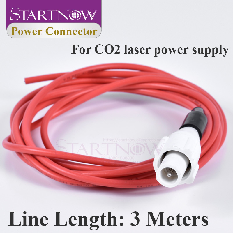 Laser Power Supply Connector Adapter High Voltage Plug Socket Electricity Wire PSU Cable 3M For CO2 Cutting Engraving Machine