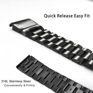 Image 3 - Fenix 6S מתכת צמיד 20mm נירוסטה מתכת QuickFit להקת שעון רצועת עבור Garmin Fenix 5S/5S בתוספת החלפת צמיד