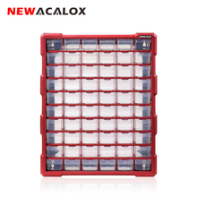 NEWACALOX 39 Drawer Big Organizer Hardware and Craft Cabinet household Tool Box Plastic Small Parts Storage Multi Casket Case