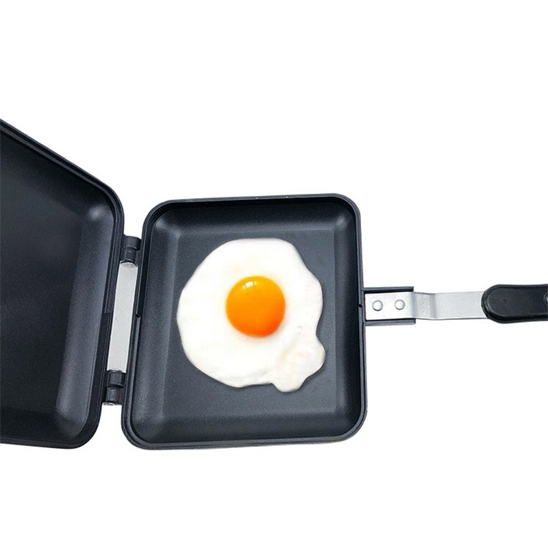 Sandwich Toast Mold Pan Double-sided Frying Pan Bread Breakfast Household Baking Dish Non-stick Coat Smoke-free Aluminum