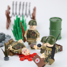 Military US Army Soldiers Figures Building Blocks Face Heads Injured Emotional Accessories Weapon Toys