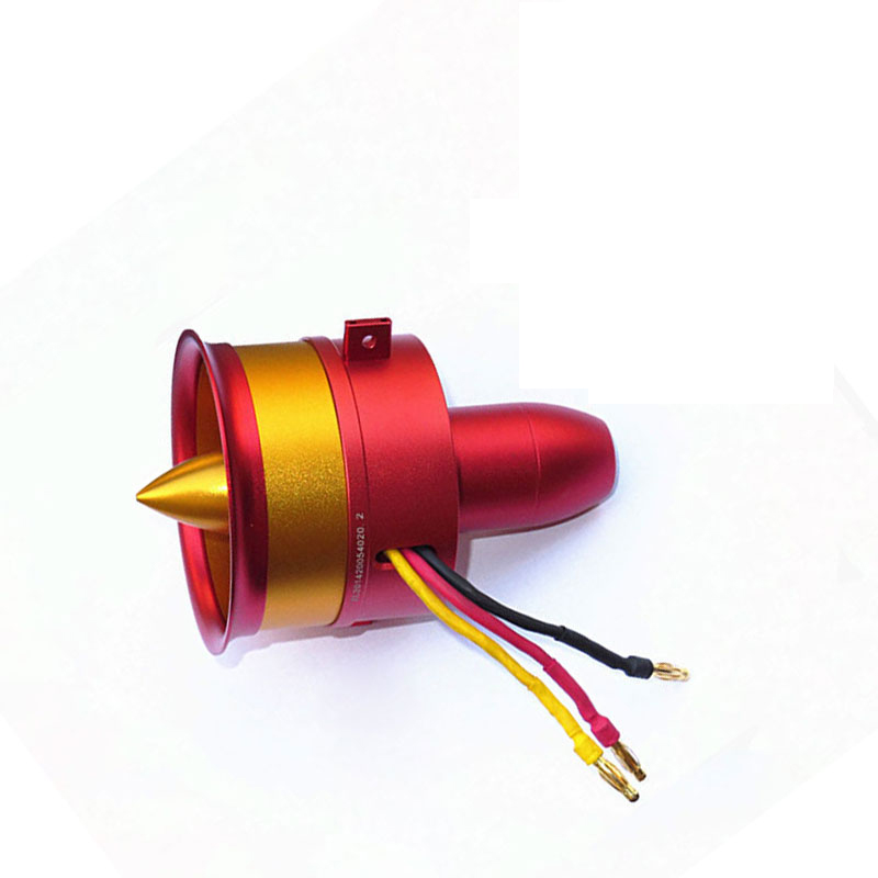 Hot Sale Metal JP/GP 70mm Ducted Fan EDF Jet 12 Blade 2s-6s Lipo Motor Electric for RC airplane Model image