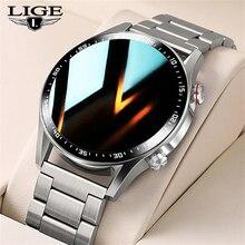 LIGE – montre connectée tactile, bracelet de sport, avec horloge, étanche IP68, moniteur de fréquence cardiaque, pour téléphone IOS Android, avec boîte, pour hommes, nouveau, 2021