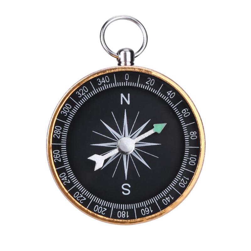 Портативный алюминиевый брелок для кемпинга с компасом, подарок, золотые инструменты для альпинизма на открытом воздухе, Прямая поставка