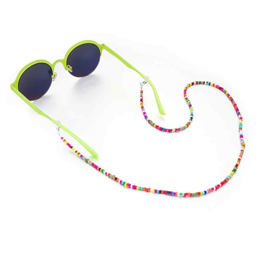 Cadena de gafas con cuentas geométricas de moda Universal Anti-soporte deslizante Correa cuerda cable para gafas