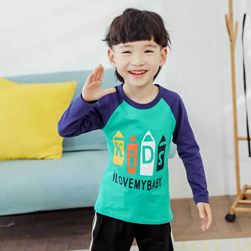 Babies' Long Sleeve T-shirt Pure Cotton Spring And Autumn BOY'S Top One-Piece HEATTECH