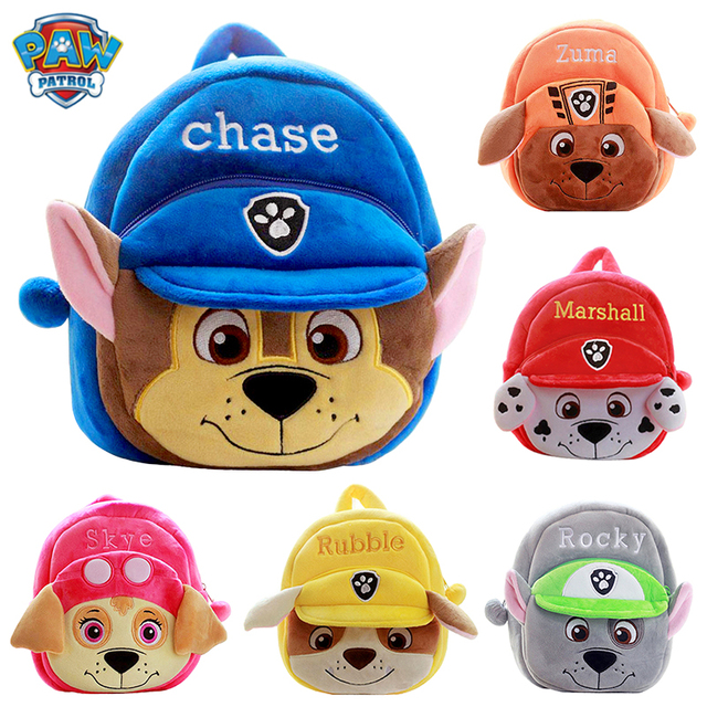 Plush Bag Paw Patrol Puppy Plush Backpack Anime Figure Chase Marshall Plush Animals Toys For Children Christmas Birthday Gift 1
