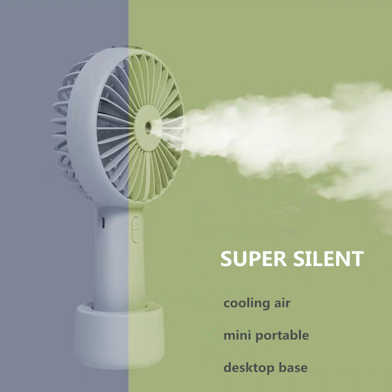 Battery Portable Water Spray Mist Fan Electric USB Rechargeable Handheld Mini Fan Cooling Air Conditioner Humidifier For Outdoor