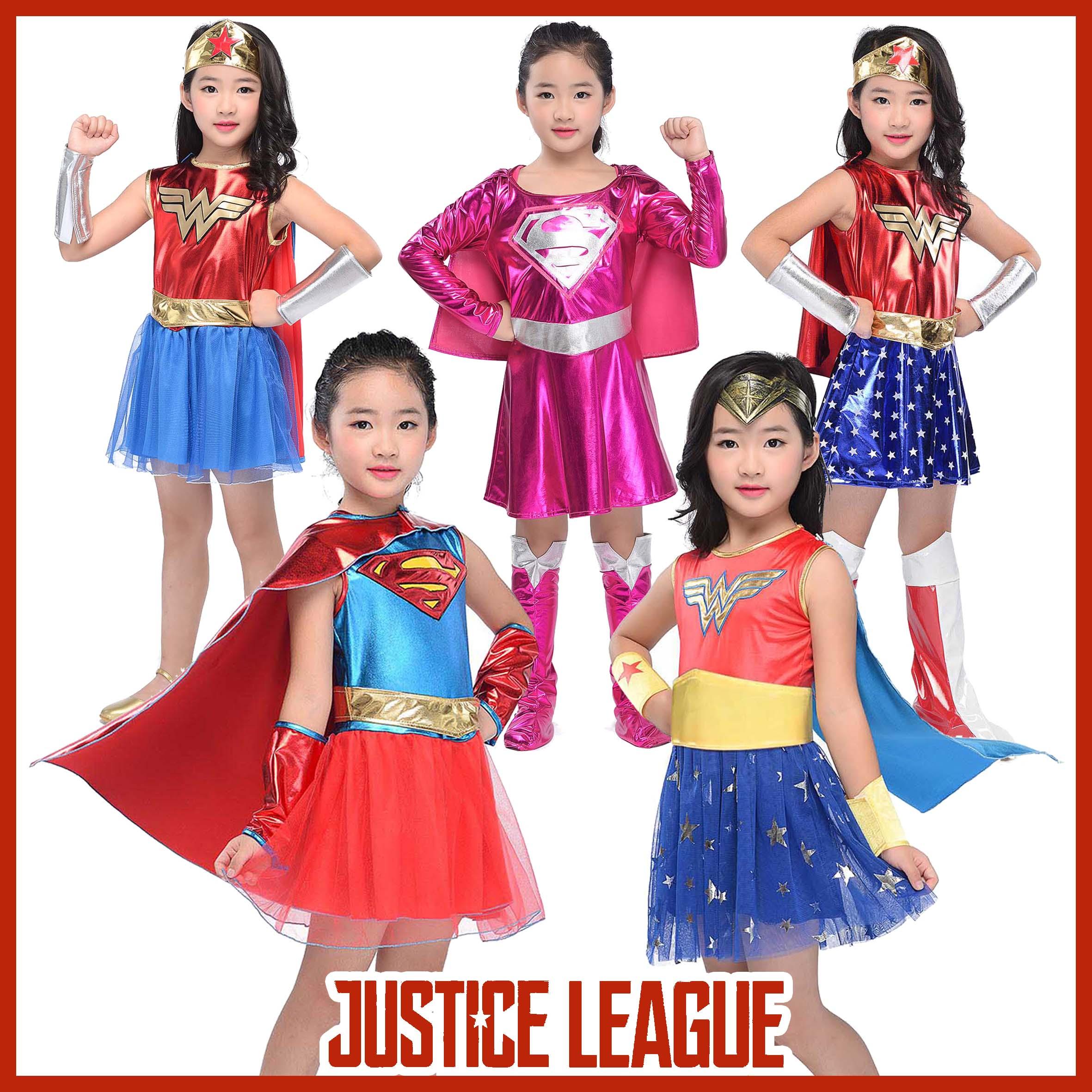 Boys Girls Justice League Superhero TV DC Comic Film Fancy Dress Costume Outfits