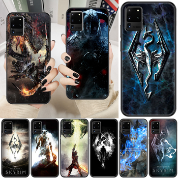 Skyrim Game Phone case For Samsung Galaxy Note 4 8 9 10 20 S8 S9 S10 S10E S20 Plus UITRA Ultra black trend shell art cover image