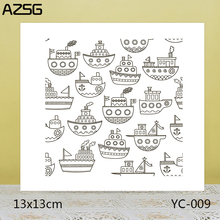 ZhuoAng Ferry Clear Stamps For DIY Scrapbooking/Card Making Decorative Silicon Stamp Crafts
