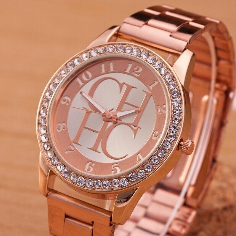 Relogio Feminino New Famous Luxury Brands Women Watch Fashion Kobiet Zegarka Stainless Steel Quartz Ladies Wristwatches Hot Rose