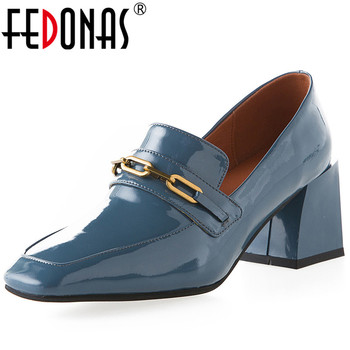 FEDONAS High Quality Women Square Toe Office Lady Pumps Working Summer Spring Square  Heeled New Arrival 2020 Shoes Woman